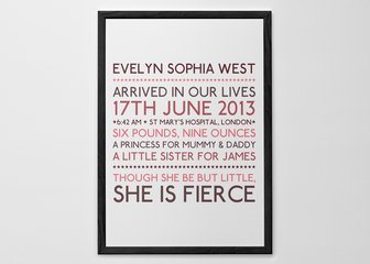 Personalised Print, Poster or Canvas - We thought we'd keep it simple with this one. Lovely colourful text to create eye-catching prints. Just choose a font, colours and add words...