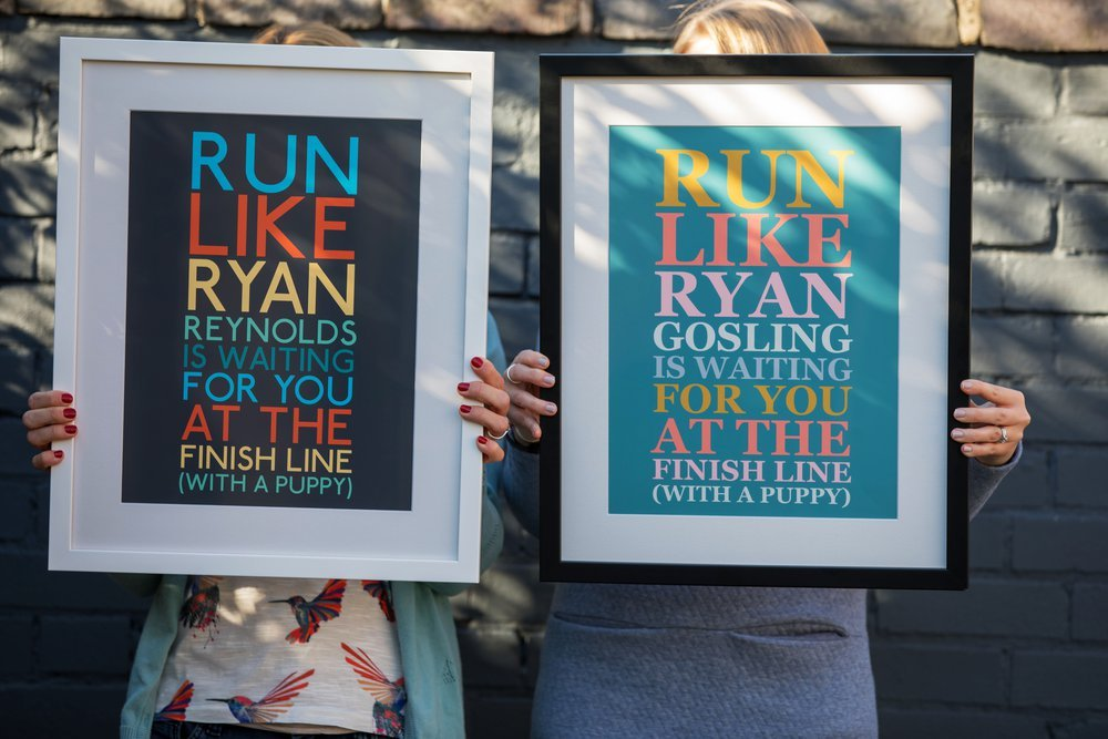 Personalised Art Print or Poster - Big Text