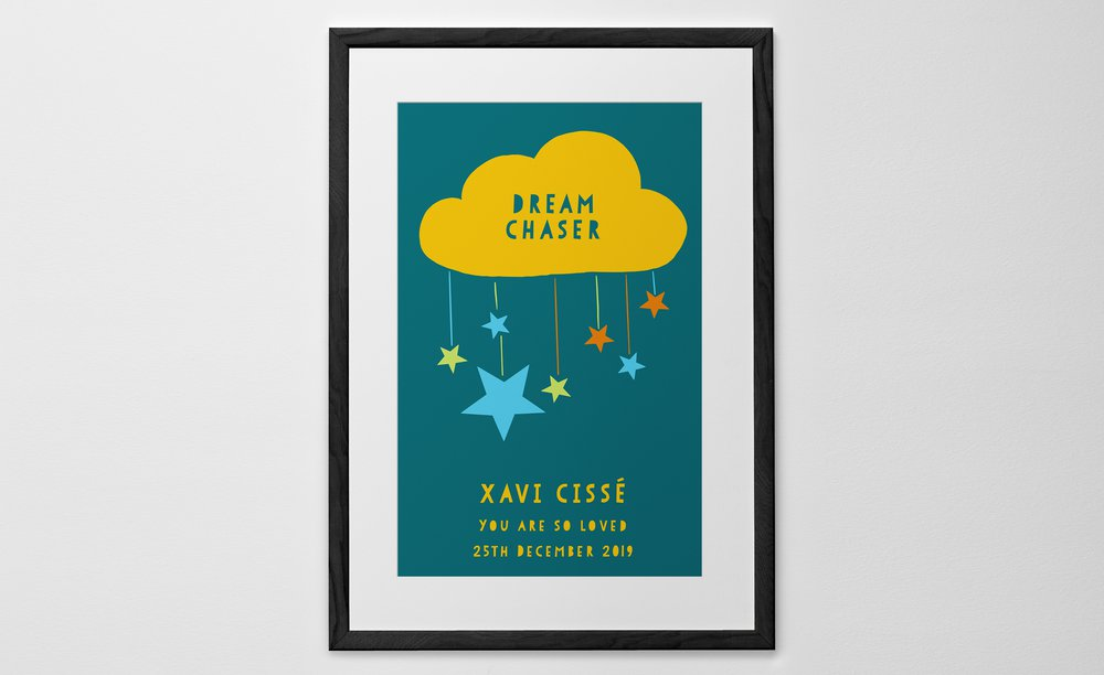 Personalised Art Print or Poster - Cloud Mobile