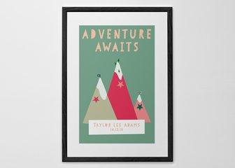 Personalized Print, Poster or Canvas - Inspire a thirst for adventure in the youngest members of your family with the Dream Big print from our fabulous new Illustration range. Pick your favorite color scheme, add your text, and off they'll go to follow their dreams.
