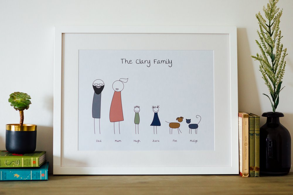 Personalised Art Print or Poster - Family Portrait