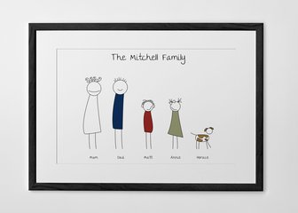 Personalised Print, Poster or Canvas - Easier than getting the whole family to smile nicely for the camera!