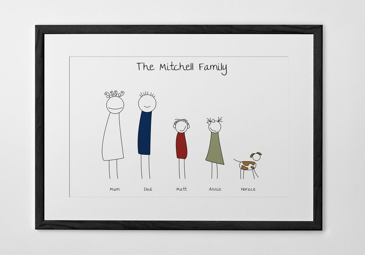Personalized Art Print or Poster - Family Portrait