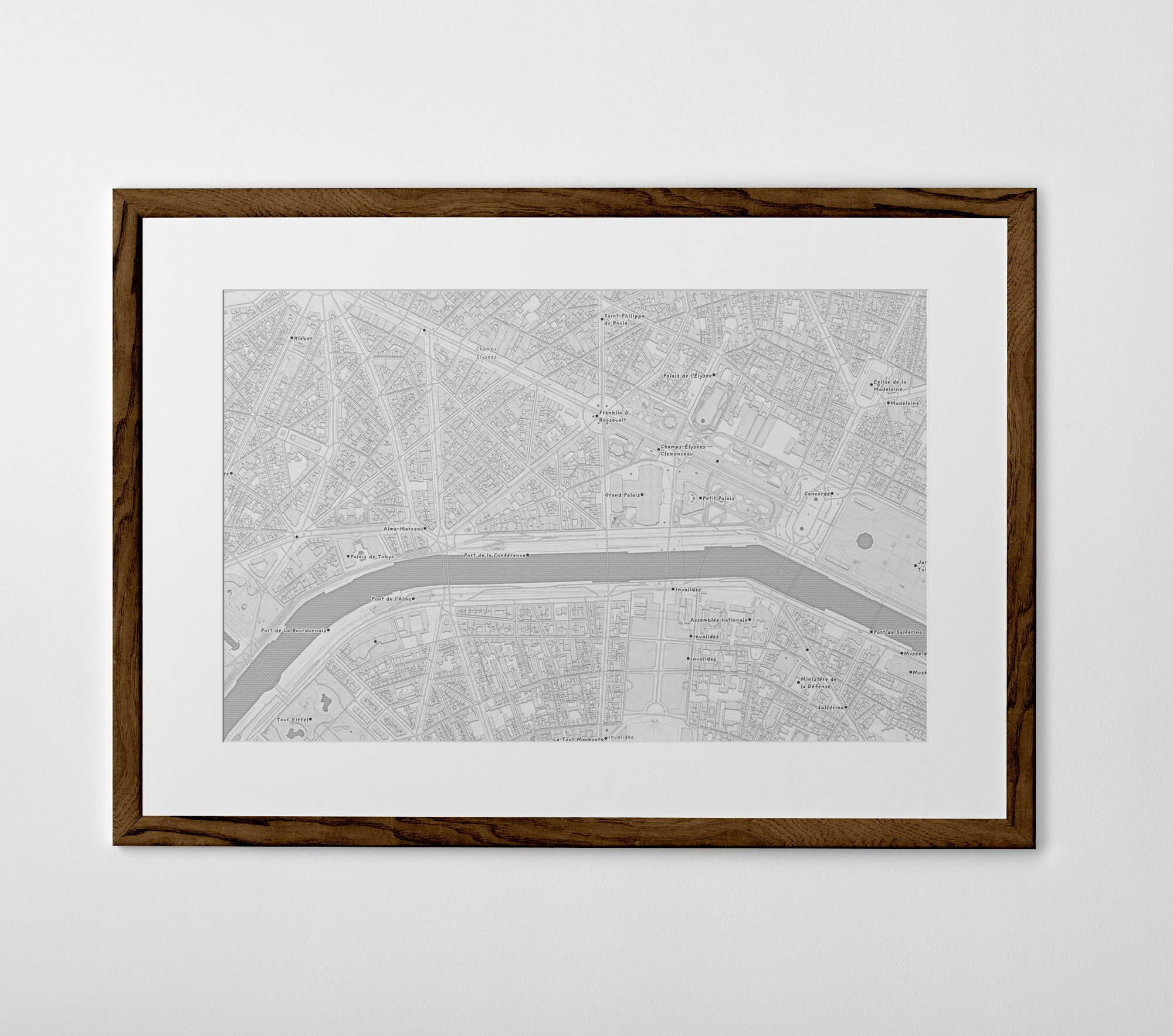 Personalised Map Print, Poster or Canvas - Posterhaste
