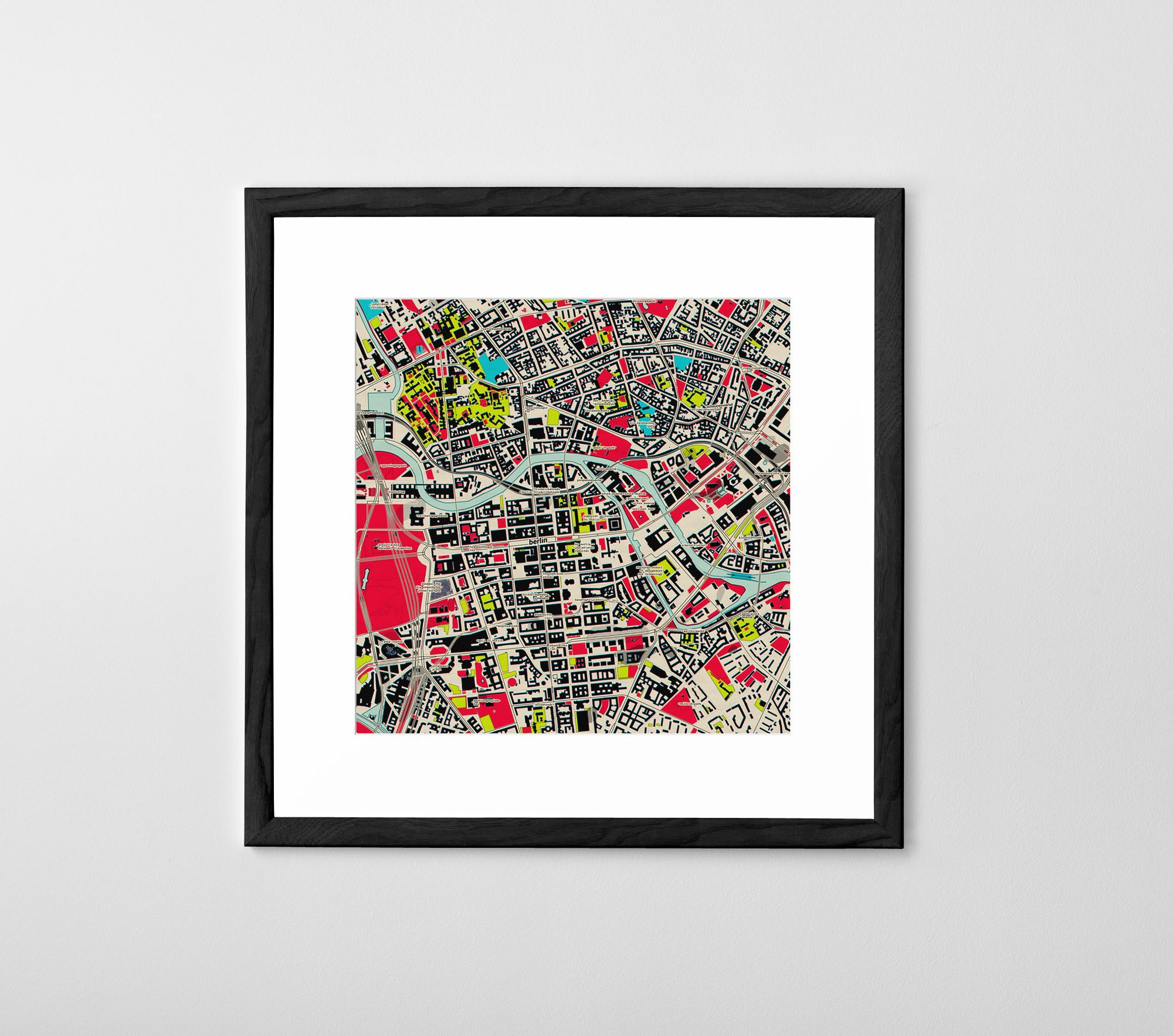 Personalised art print or poster map print
