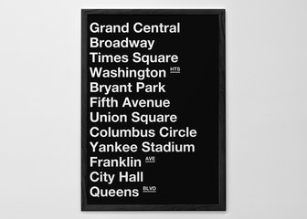 Personalised Print, Poster or Canvas - We love New York and know a lot of you do too. We're pretty sure that those of you who have visited the Big Apple probably have your own list of places you'd want to have on your print - so go ahead, choose your destinations.