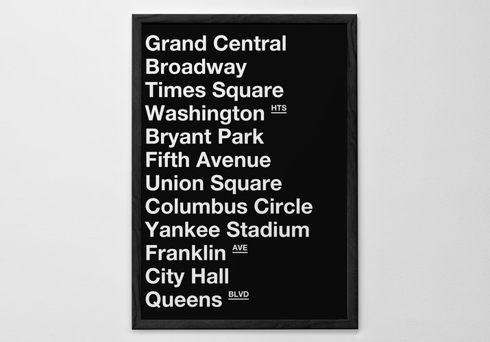 Personalised Art Print or Poster - New York Subway Poster