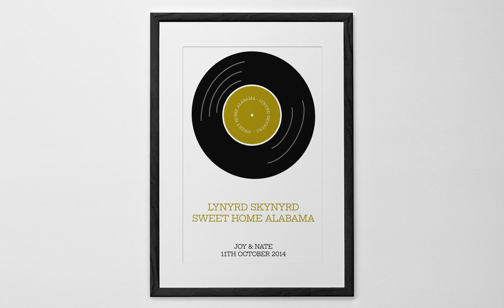 Personalized Art Print or Poster - Our Song - Vinyl