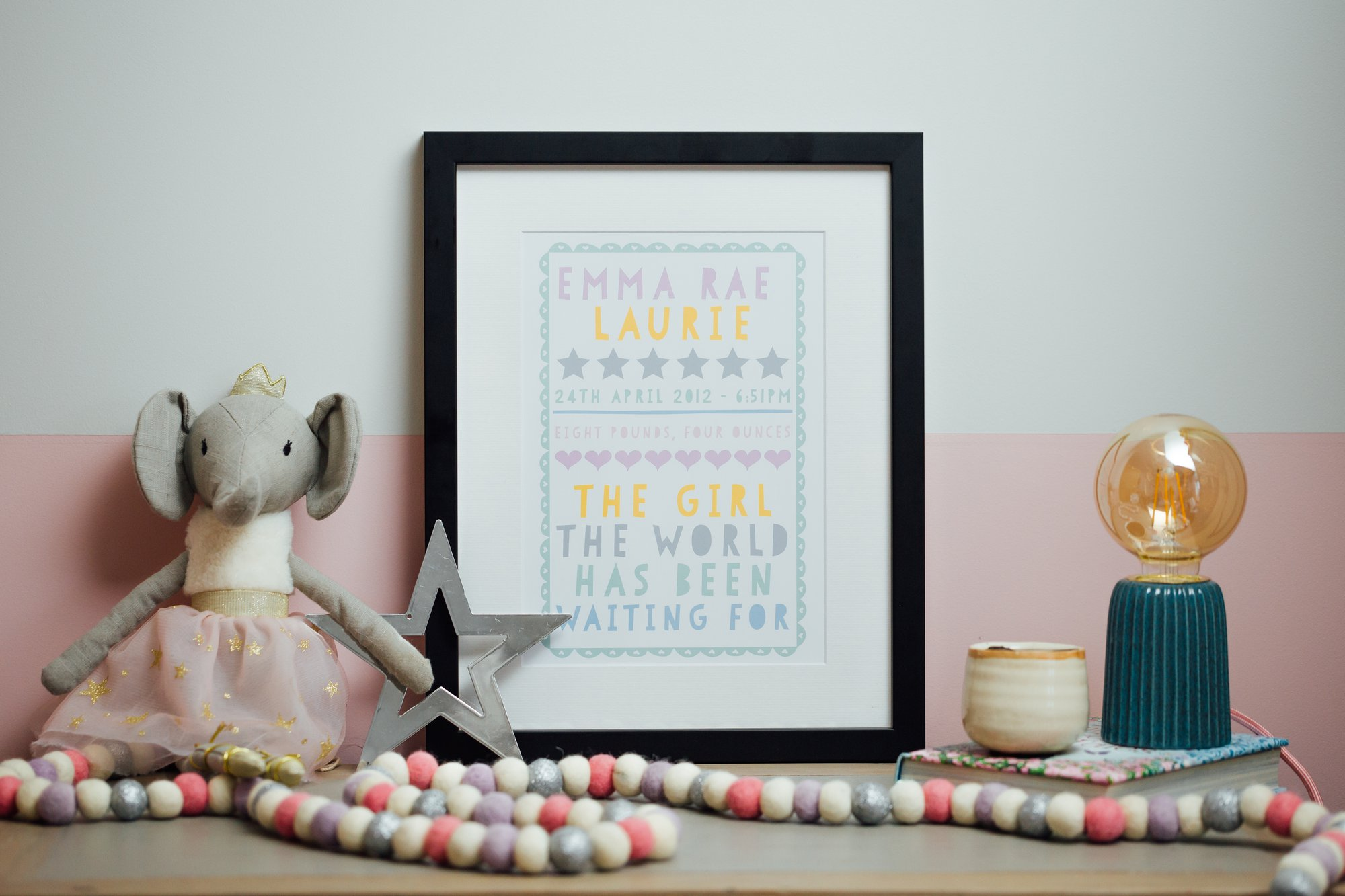 Personalized Art Print or Poster - Papercut Words
