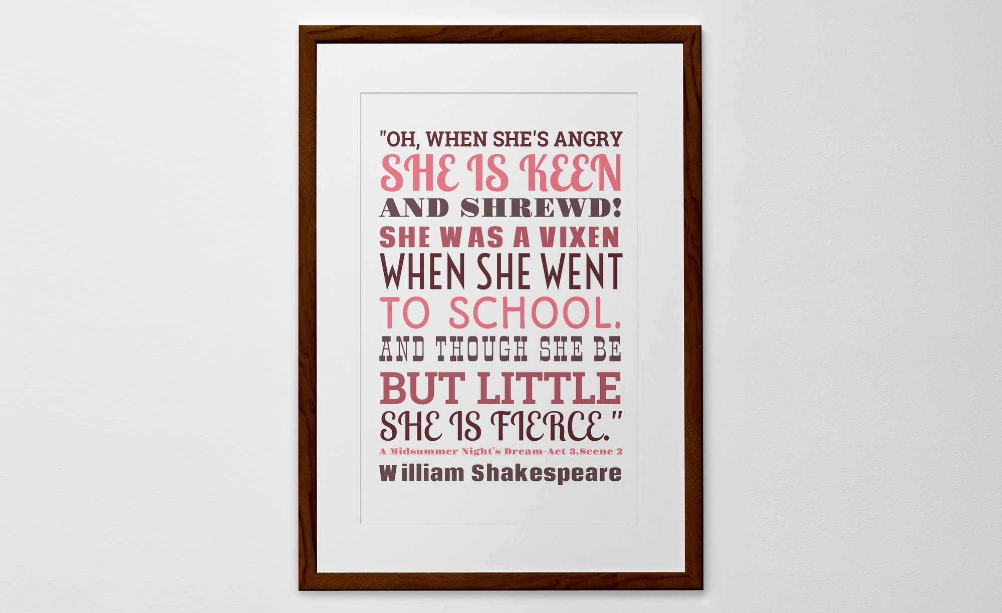 Personalised Art Print or Poster - Words
