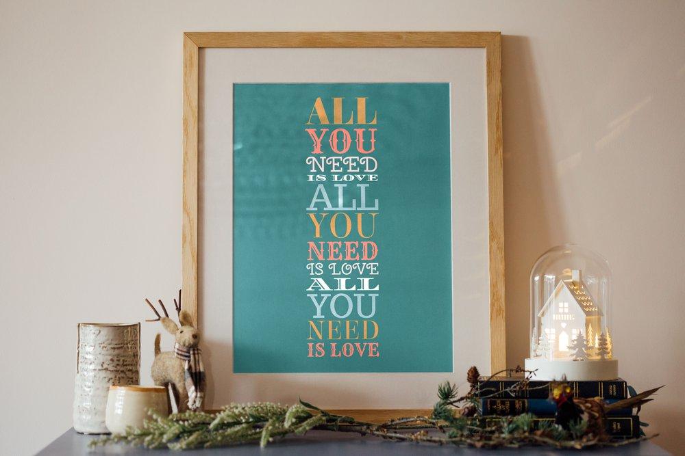 Personalised Art Print or Poster - Words