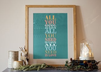 Personalized Print, Poster or Canvas - Keep it simple, but fun, with this design. Create eye-catching designs in a range of bright color and snappy fonts.   It's perfect for memories, poetry, quotations and celebrations.