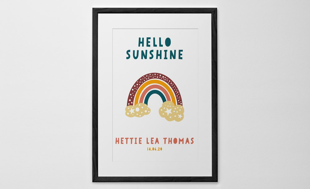 Personalized Art Print or Poster - Rainbow