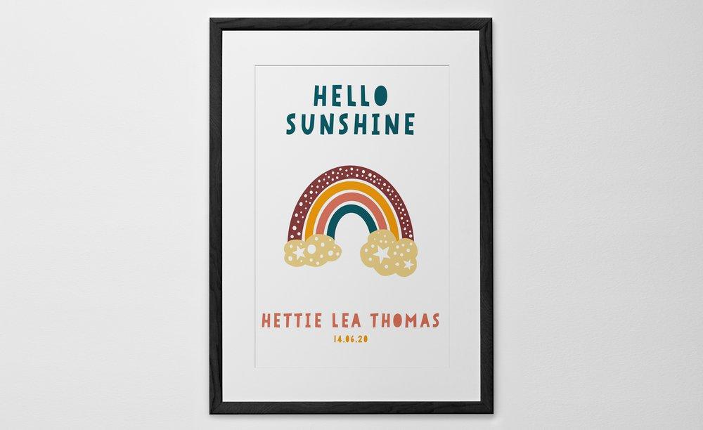 Personalised Art Print or Poster - Rainbow