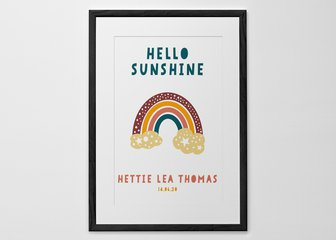 Personalised Print, Poster or Canvas - Bring instant happiness on even the gloomiest days with our cheerful new Rainbow print. 