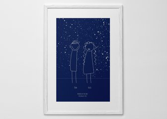Personalised Print, Poster or Canvas - Together under the stars.