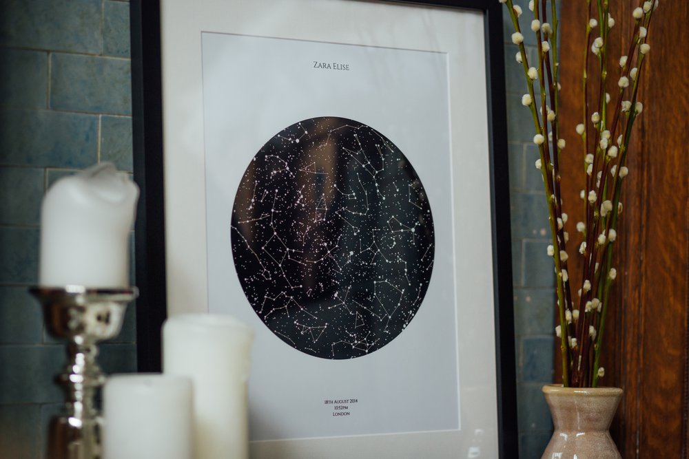 Personalised Art Print or Poster - Star Map