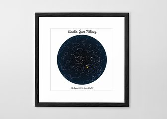 Personalised Print, Poster or Canvas - A Posterhaste Star Map is a wonderful way to commemorate a wedding, birth, anniversary or other special occasion with a unique gift.