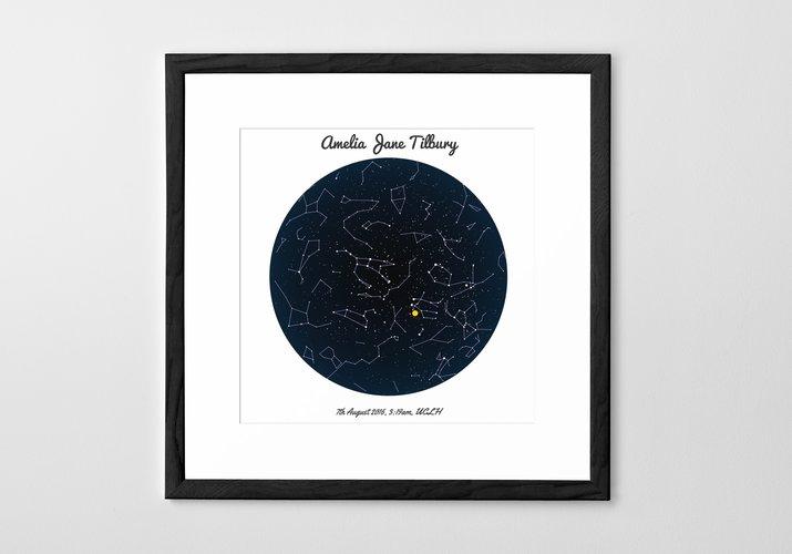 Personalised Art Print or Poster - Star Map