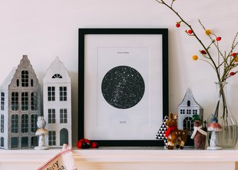 Personalised Print, Poster or Canvas - A Posterhaste Star Map is a unique gift to commemorate a wedding, birthday, anniversary, or other special occasion with a unique print of the constellations in the night sky.  Select a place, date, and time to create a design showing the night sky (or day!) as it was, or will be, at that location, at your chosen moment. A Framed Print or Framed Canvas would make a beautiful keepsake gift for your lucky recipient.