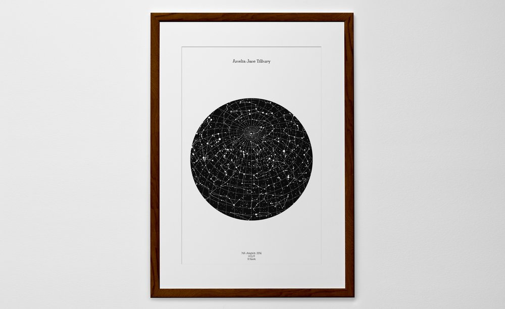 star map of specific date Personalized Star Map Print Or Poster Of The Night Sky Posterhaste