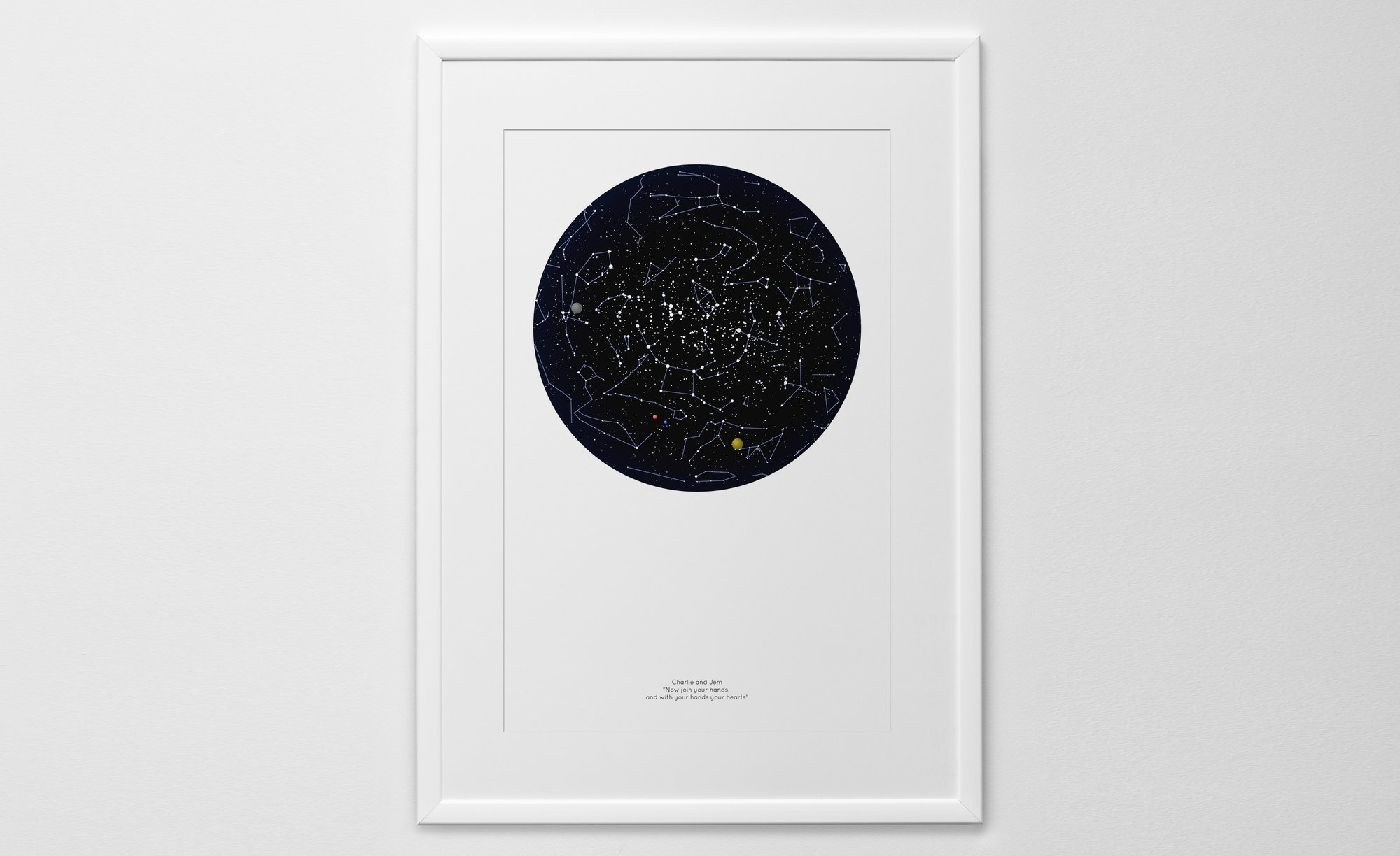 Personalized Star Map Print Or Poster Of The Night Sky Posterhaste - Star map now