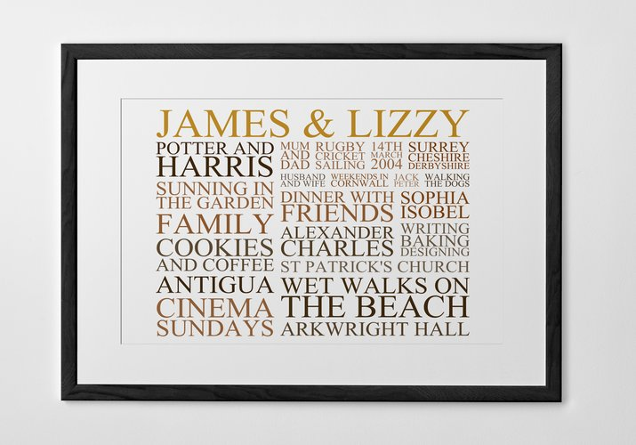 Personalised Art Print or Poster - Typography