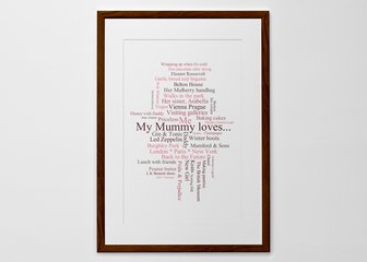 Personalised Print, Poster or Canvas - Put your friendship into words and remind your best mate of the times you've had together; Immortalise a trip of a lifetime; Share your favourite things...The options are endless