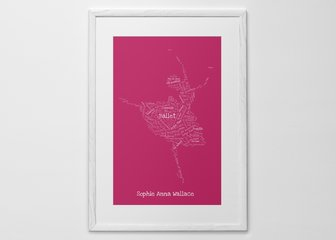 Personalised Print, Poster or Canvas - From guitars to ballerinas, and teapots to champagne flutes, we're sure you'll find something that suits. This design makes a brilliant birthday present, or as wall art for a child's room.
