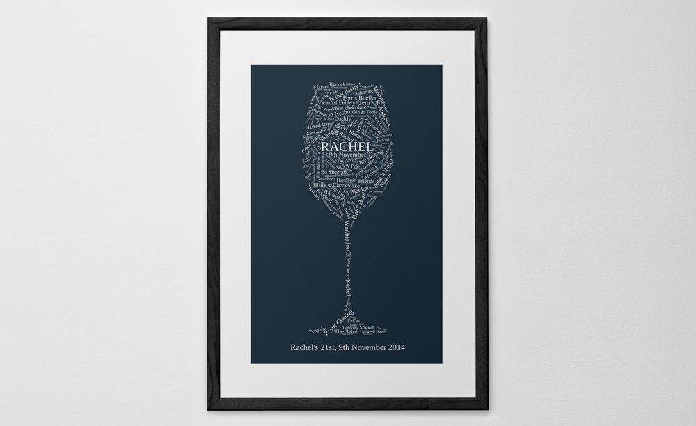 Personalized Art Print or Poster - Word Shape