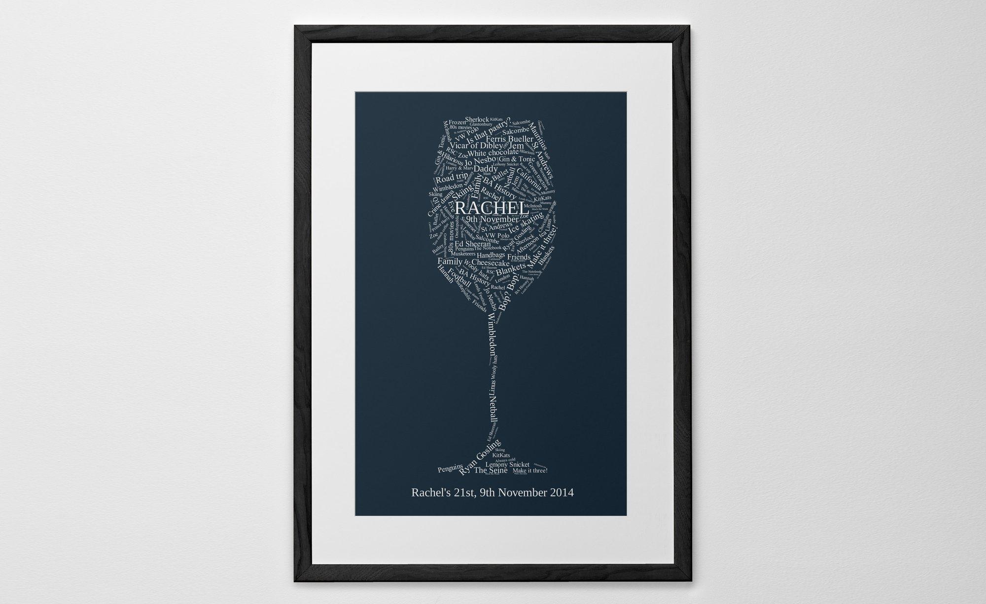 personalised word shape print poster or canvas posterhaste