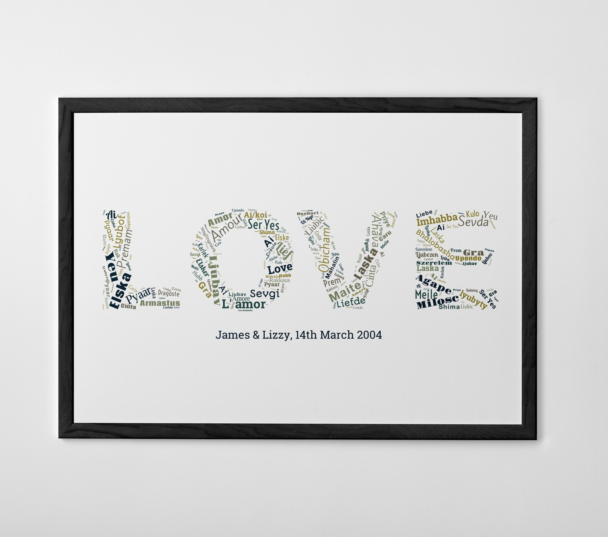 Personalised Words on Words Print, Poster or Canvas - Posterhaste