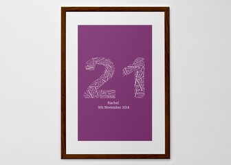 Personalised Print, Poster or Canvas - For when one word simply isn't enough.